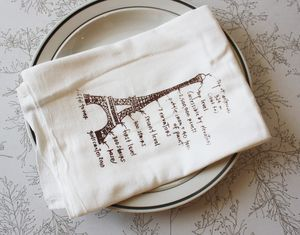 Eiffel tower brown towel 1