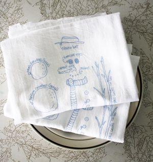 Snowman towel 2